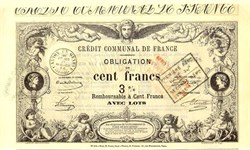 Credit Communal De France 1870 - Ornate Cherub Vignette