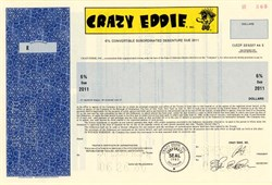 Crazy Eddie, Inc.  ( Famous electronics chain store FRAUD ) SPECIMEN - 1986