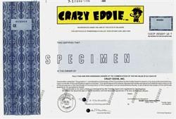 Crazy Eddie, Inc.  ( Famous electronics chain store ) - RARE Specimen - 1989