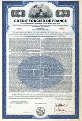 Credit Foncier de France External Loan Bond - Specimen - 1959