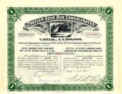 Crueger Gold Run Consolidated, Limited - Nova Scotia, Canada 1905