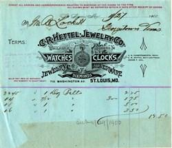C. R. Heitel Jewelry Co.  - Watches and Clocks -St. Louis,  Missouri 1900