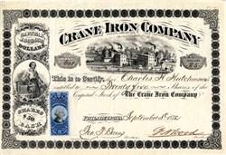 Crane Iron Company -  Pennsylvania, 1872