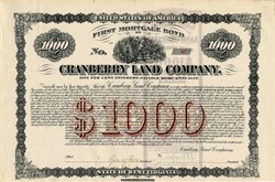 Cranberry Land Company -  Raliegh County, West Virginia 1906