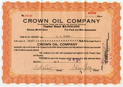 Crown Oil Company - 1918