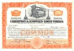 Crompton & Knowles Loom Works - Worcester, Massachusetts 1937