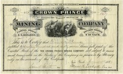 Crown Prince Mining Company - New York - Location of Mines, Pennsylvania Gulch, Park County, Colorado 1880