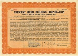Crescent Shore Building Corporation - Illinois 1933