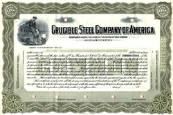 Crucible Steel Company of America - New Jersey 1910