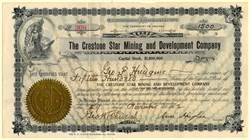 Crestone Star Mining and Development Company - Territory of Arizona 1902