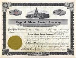 Crystal Glass Casket Company 1920