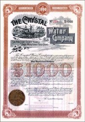 Crystal Water Company 1890 - County of Richmond, New York