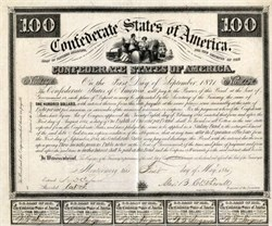 Confederate States of America Bond - Pre Richmond Capital Montgomery Bond - 1861 - Ball # 3