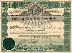 Cushing Base Ball Association - Oklahoma 1923