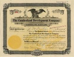 Cumberland Development Company - Cumberland, Maryland 1916