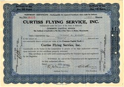 Curtiss Flying Service, Inc. - Delaware 1929