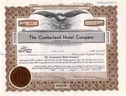 Cumberland Hotel Company (Owner of the Fort Cumberland Hotel)  - Maryland 1955
