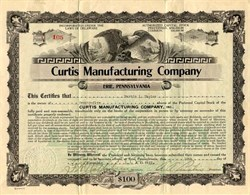 Curtis Manufacturing Company - Erie, Pennsylvania 1922