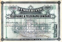 Cumberland Telephone and Telegraph Company (Became Bell South)  Henderson , Kentucky, 1884