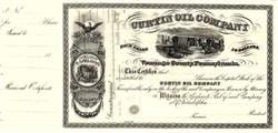 Curtin Oil Company -  Venango County, Pennsylvania ( The first oil boom in the U.S. ) 1865