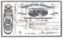 Curtin Oil Company 1865 - From Early Oil Boom in Venango County, Pennsylvania