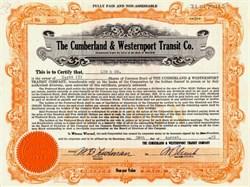 Cumberland & Westernport Transit Company - Maryland 1927