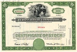 Curtis Wright Corporation  (Glenn Curtiss and Wright Brothers) - Specimen