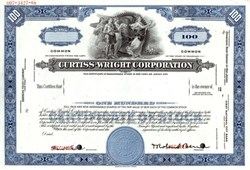 Curtiss - Wright Corporation Specimen Stock Certificate - Delaware 1968