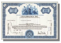 Cyclomatics, Inc. 1960's