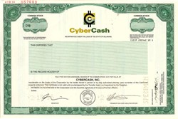 CyberCash, Inc ( Became PayPal) - Delaware 1996