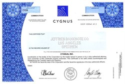 Cygnus, Inc. - Delaware