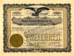 Danish American Prospecting Co. Preferred Stock - Florida 1956
