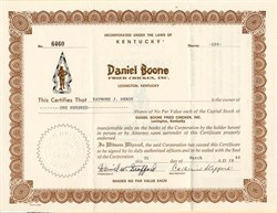 Daniel Boone Fried Chicken, Inc. - Kentucky 1969