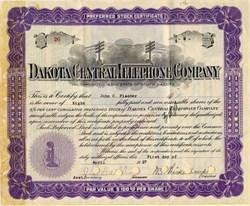 Dakota Central Telephone Company - South Dakota 1927