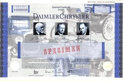 Daimler Chrysler ( Mercedes Benz Car Company ) - Pre  Chrysler Sale and Bankruptcy