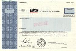 Dawson Geophysical Company - Texas 1981