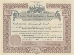 Damitza Oil and Gas Development Company 1922