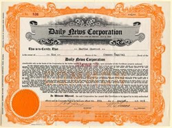 Daily News Corporation - Nevada 1926