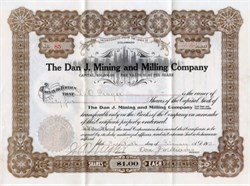 Dan J. Mining and Milling Company - Colorado 1914