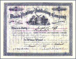 Dando Printing and Publishing Company - 1885