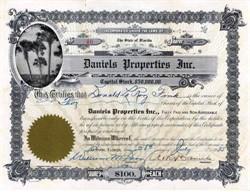 Daniels Properties Inc. 1925 - Florida