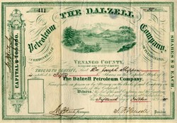 Dalzell Petroleum Company - Venango County, Pennsylvania - 1885