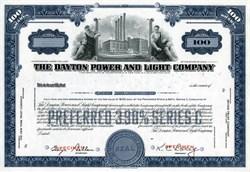 Dayton Power & Light Stock Certificate - 100 Shares