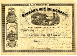 Dawson's Run Oil Company - Harmony Township, Venango County, Pennsylvania - 1865