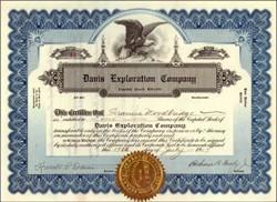 Davis Exploration Company 1907
