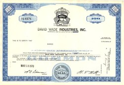 David Wade Industries, Inc. - Delaware 1970