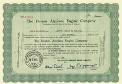 Dayton Airplane Engine Company 1929 - Dayton, Ohio - Bi Plane Engine Manufacturer