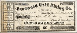 Deadwood Gold Mining Co.  - Nevada City. Willow Valley District,  Nevada County, California 1878