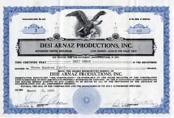 Desi Arnaz Productions, Inc. handsigned by Desi Arnez (RARE) -  California 1966
