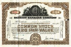 Detroit Bankers Company - Michigan 1930